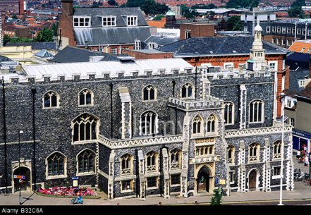B32C6A Norwich Guildhall Norfolk 15th century Medieval English Gothic architecture East Anglia England UK flint stone city landscape